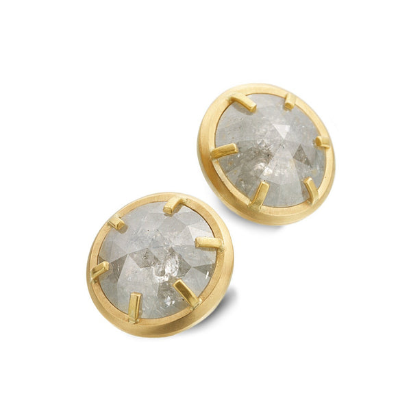 CAGED DIAMOND STUD EARRINGS