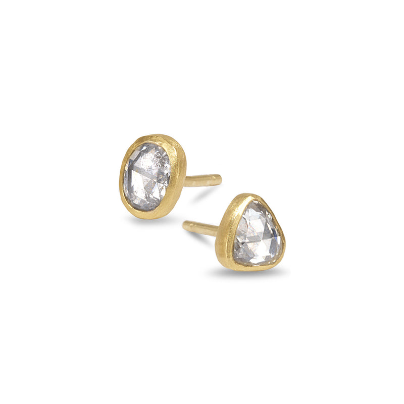 OLD ROSE CUT DIAMOND STUDS