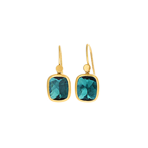 DEEP SEA TOURMALINE EARRINGS