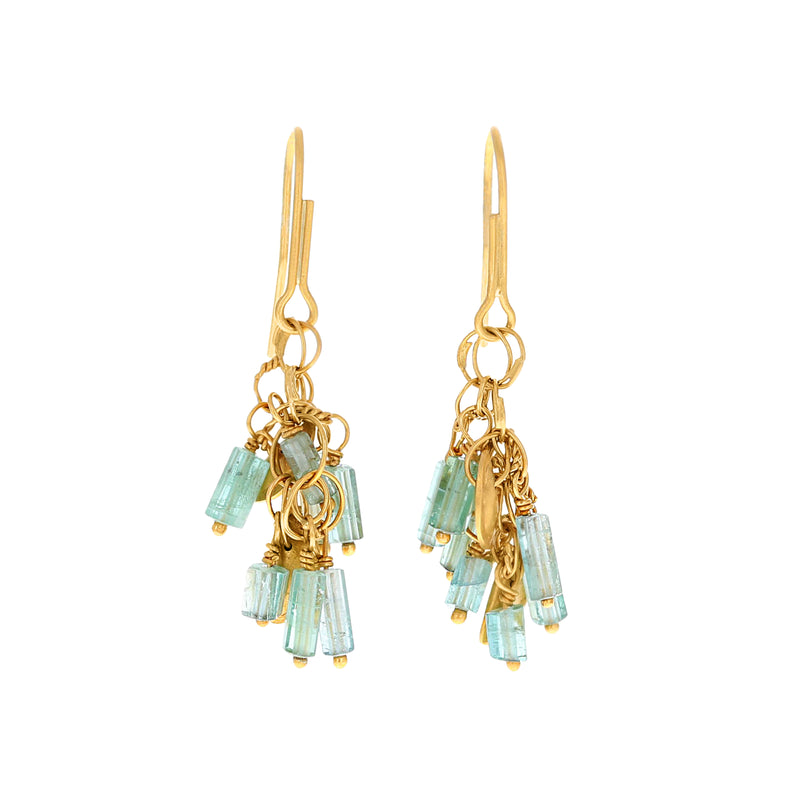 CLUSTER AQUAMARINE EARRINGS