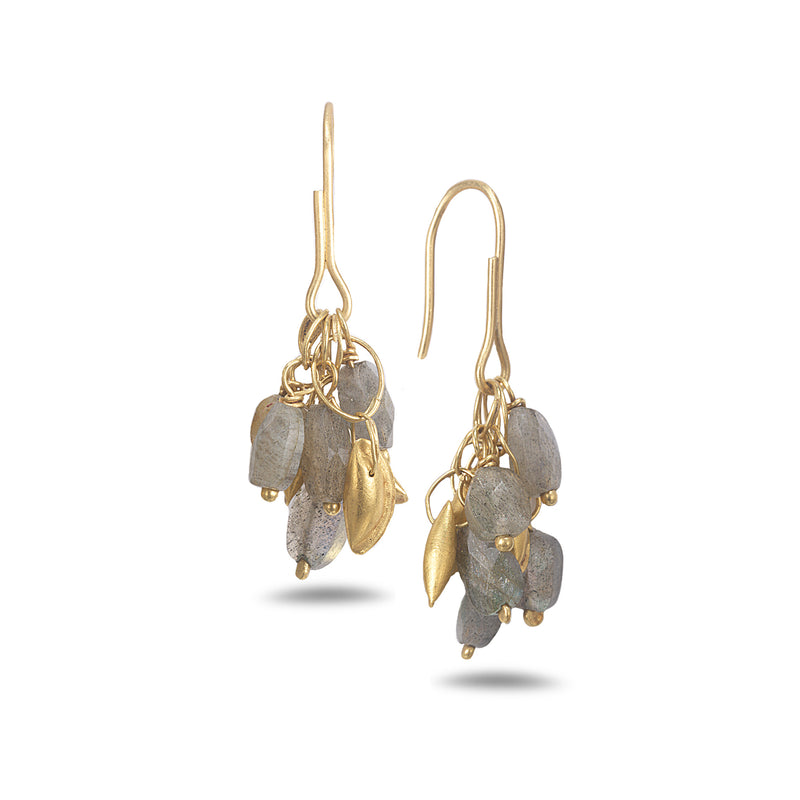 LABRADORITE CHANDELIER EARRINGS