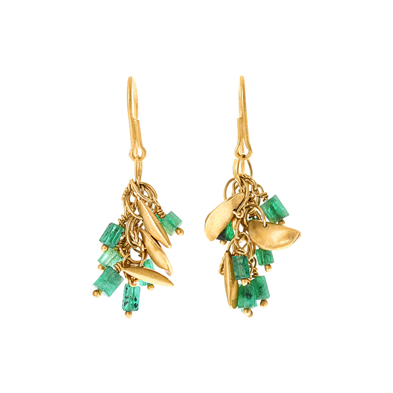 GREEN TOURMALINE CHANDELIER EARRINGS