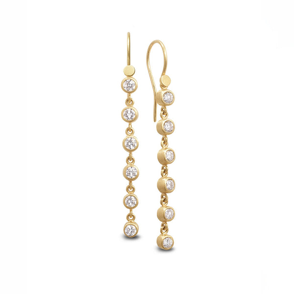 HANGING ROSE CUT DIAMOND EARRINGS