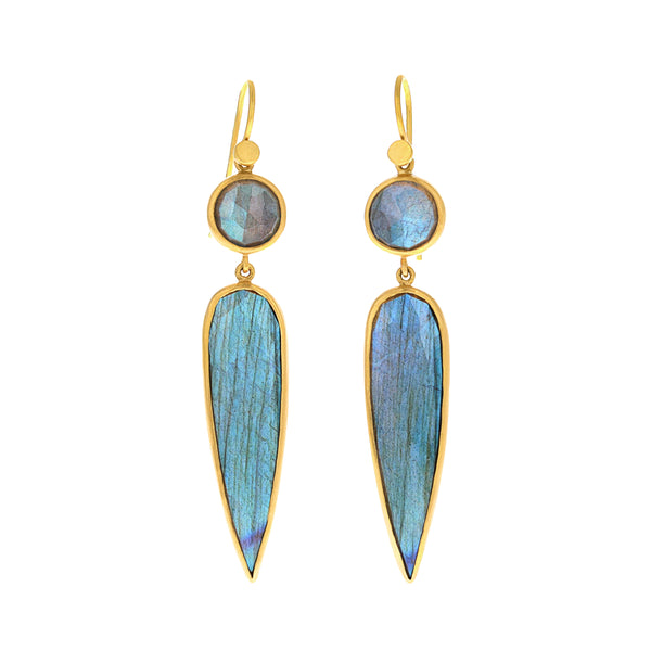 DEMOISELLE LABRADORITE EARRINGS