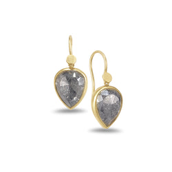 RUSTIC PEAR DIAMOND EARRINGS