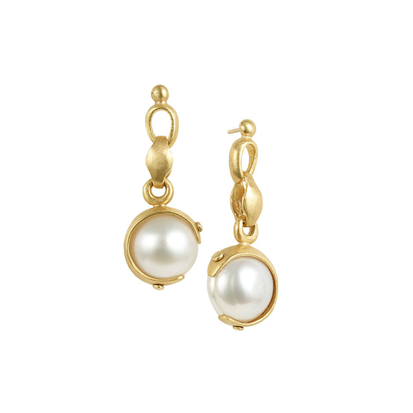 CRESCENT PEARL EARRINGS