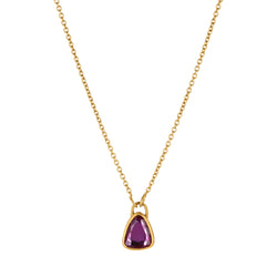 TRIANGULAR RUBY PENDANT NECKLACE
