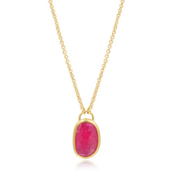 OVAL RUBY NECKLACE