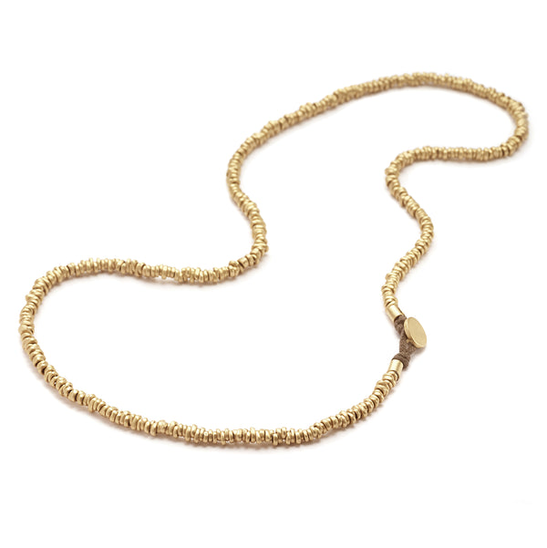 GOLD NUGGET NECKLACE - 28""