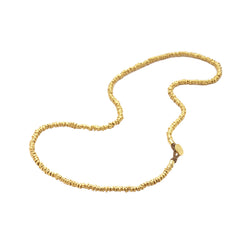 GOLD NUGGET NECKLACE - 23""