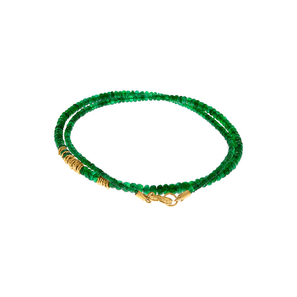 STRAND OF EMERALD BEADS NECKLACE