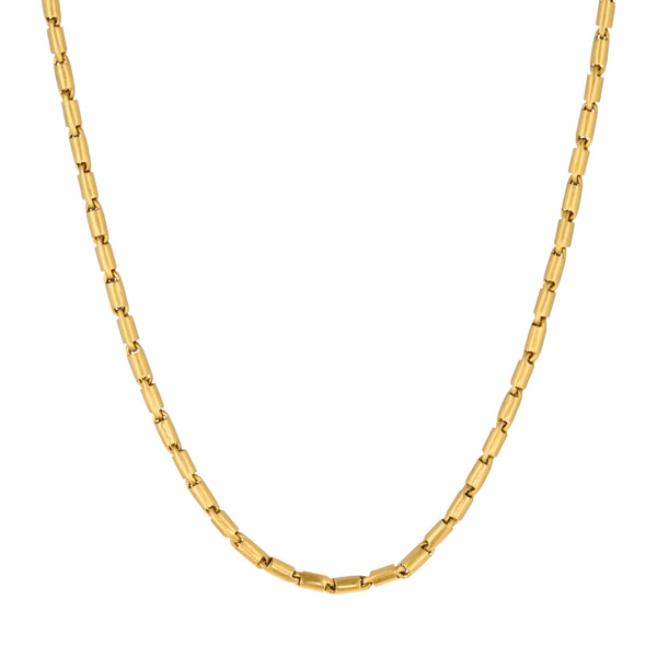 CARTOUCHE CHAIN NECKLACE - 26""