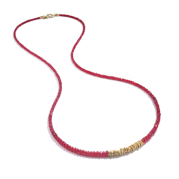 RUBY STRAND NECKLACE
