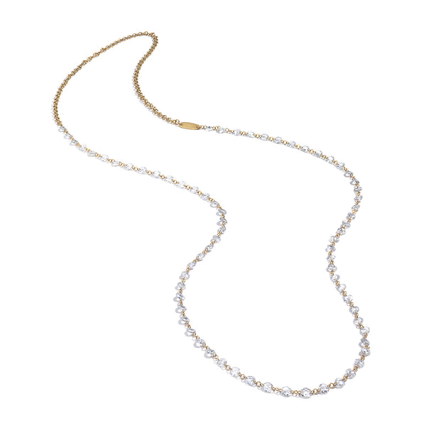 ROSE CUT DIAMOND STRAND NECKLACE