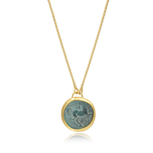 ANCIENT HORSE COIN PENDANT