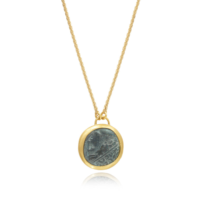 ANCIENT BRONZE COIN PENDANT