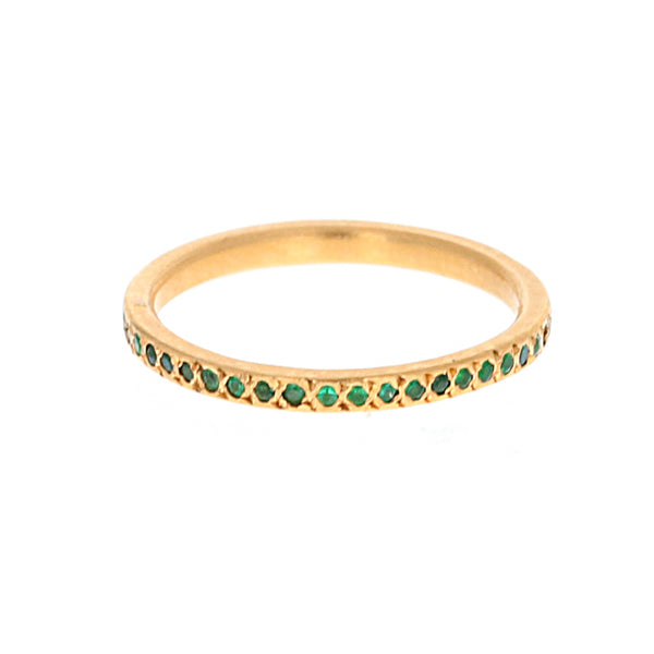 PAVE EMERALD BAND