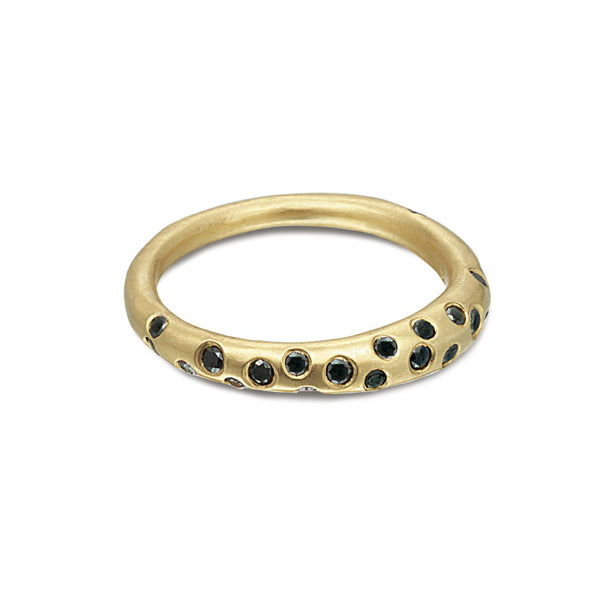 SCATTERED BLACK DIAMOND RING