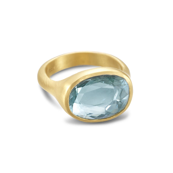 AQUAMARINE NESTING RING