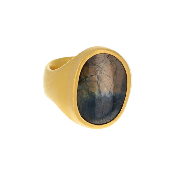 MAMMOTH BROWN SAPPHIRE RING