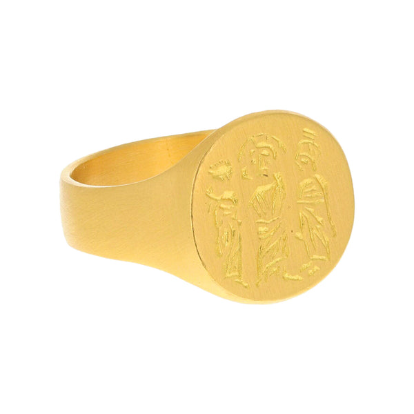 THREE KINGS SIGNET RING