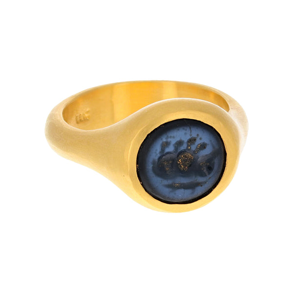 AGATE STAMP RING