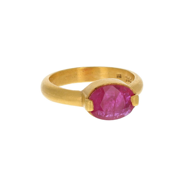 DUAL SET RUBY RING