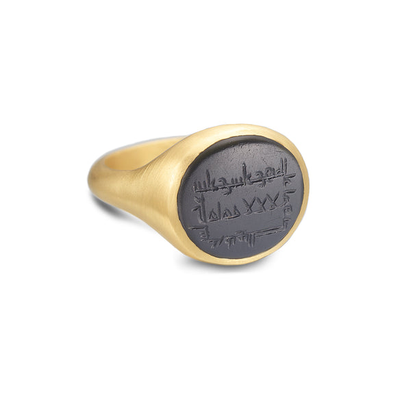 BLACK INTAGLIO RING