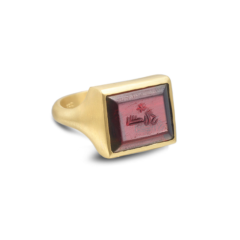 PURPLE INTAGLIO RING