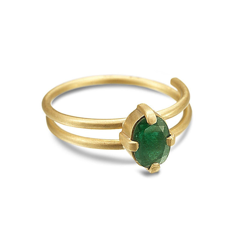 EMERALD SPIRAL RING