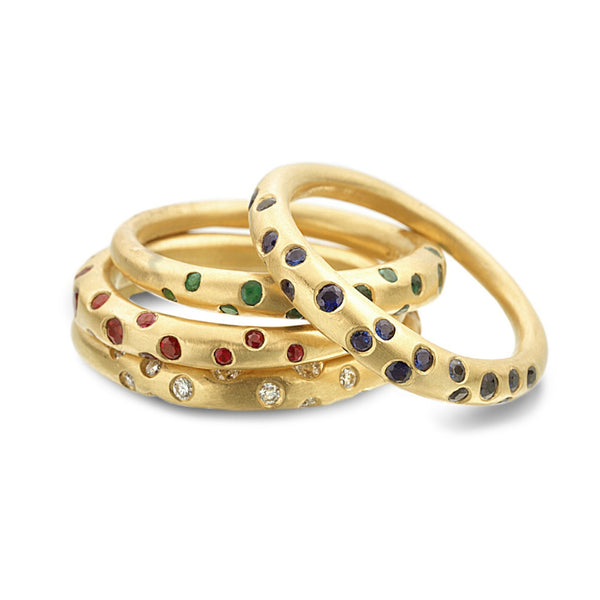 SCATTERED RUBY RING