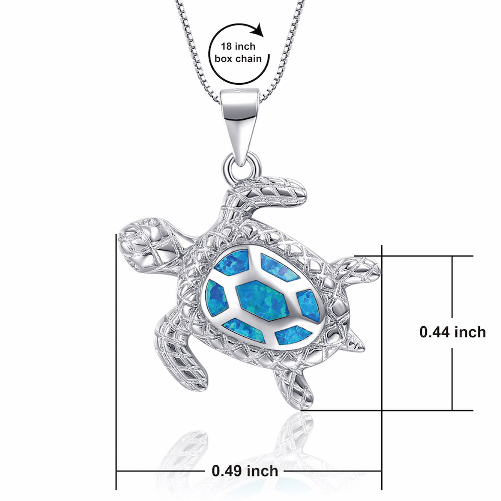 OneSight Opal Turtle Necklace For Women