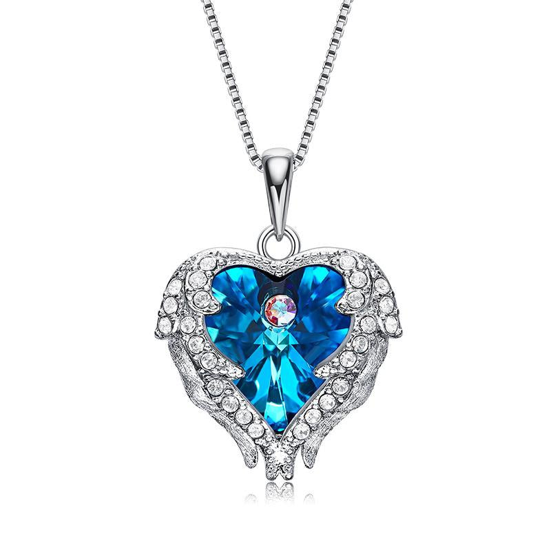 626ff1631 Angel Wing Pendant Necklace Women Jewelry Made with Crystal From Swarovski