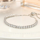 Sterling Silver Simulated Diamond Bracelet