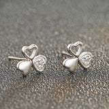 925 Sterling Silver Three Clover Earrings