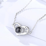 100 Languages Necklace I Love You Heart Necklace