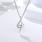 Sterling Silver Women Twist Pendant Necklaces Christmas Jewelry Gifts