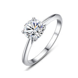 925 Sterling Silver Cubic Zirconia Simulated Diamond Ring