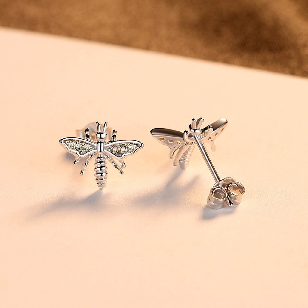 925 Sterling Silver Bee Earring