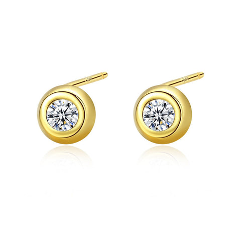 Dainty Tiny Dot Stud Earrings
