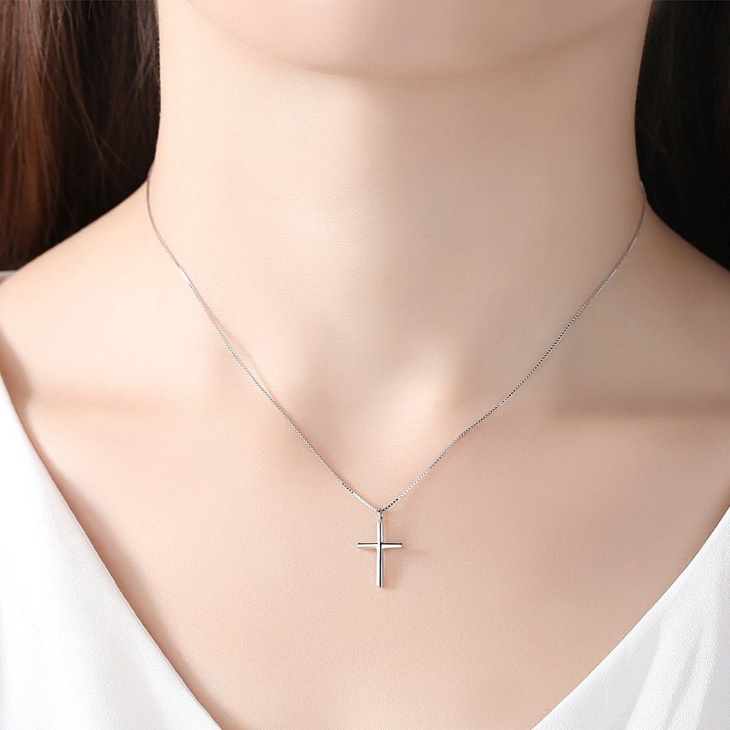 925 Sterling Silver Cross Necklace For Her