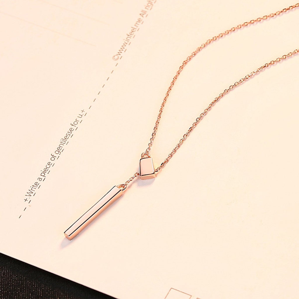 Bar Necklace Sterling Silver Minimalism Line Necklace