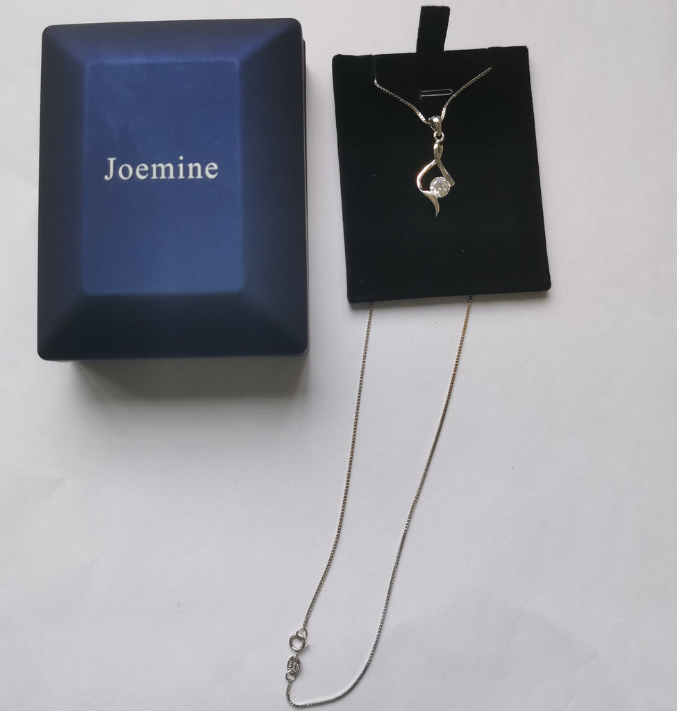 Joemine Sterling Silver Womens Twist Pendant Necklaces Christmas Jewelry Gifts