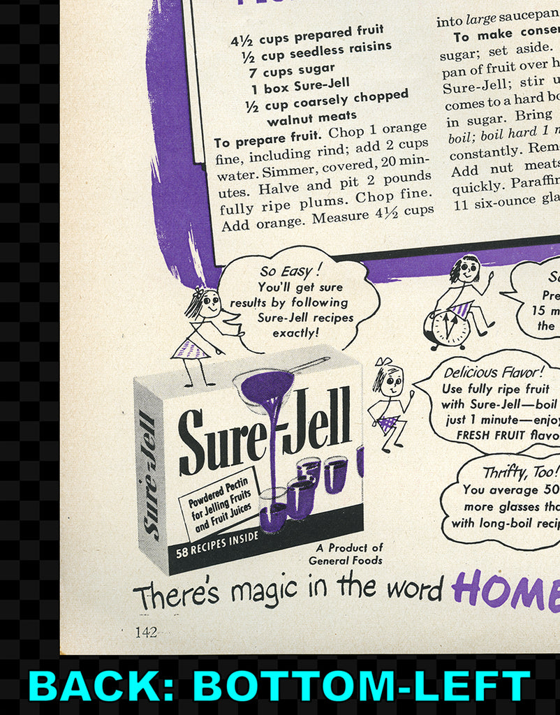 PRINT: French's Mustard (front) / Sure-Jell (back) - C. 1950