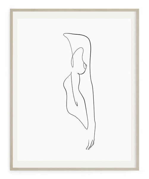 Woman Outline No.2- Printable Wall Art