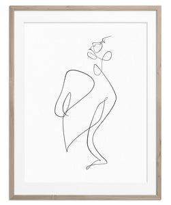 woman figure drawing decor