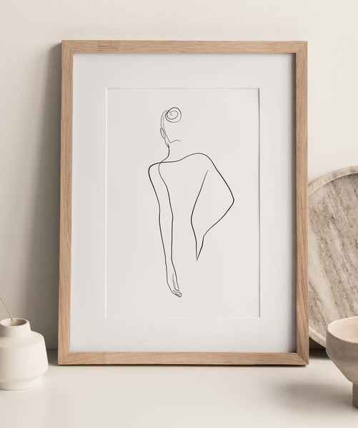 Woman Outline No.20- Printable Wall Art