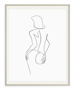 Woman Outline No.11- Printable Wall Art