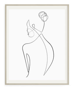 Woman Outline No.3- Printable Wall Art