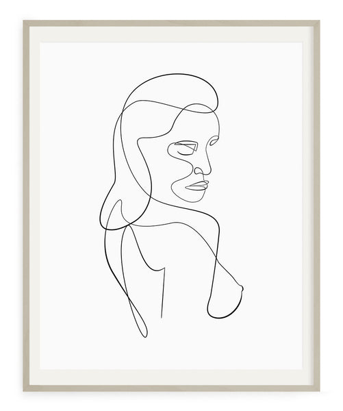 Woman Outline No.8- Printable Wall Art
